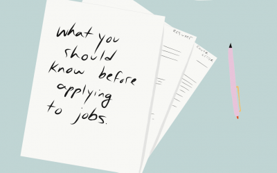 Before You Apply To Your First Job, Read This